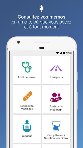 ameli Mémo Android App Screenshot