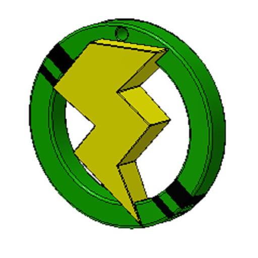 〔ボルト〕カラー グリーン・Ⅱブッラクライン キーホルダー