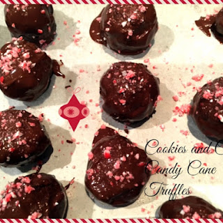 Cookies and Cream Candy Cane Truffles
