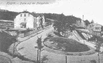 Photo: Kurve der Plessenstraße (links Nr. 19) an der Philippshöhe (1. Viertel 20. Jh.)