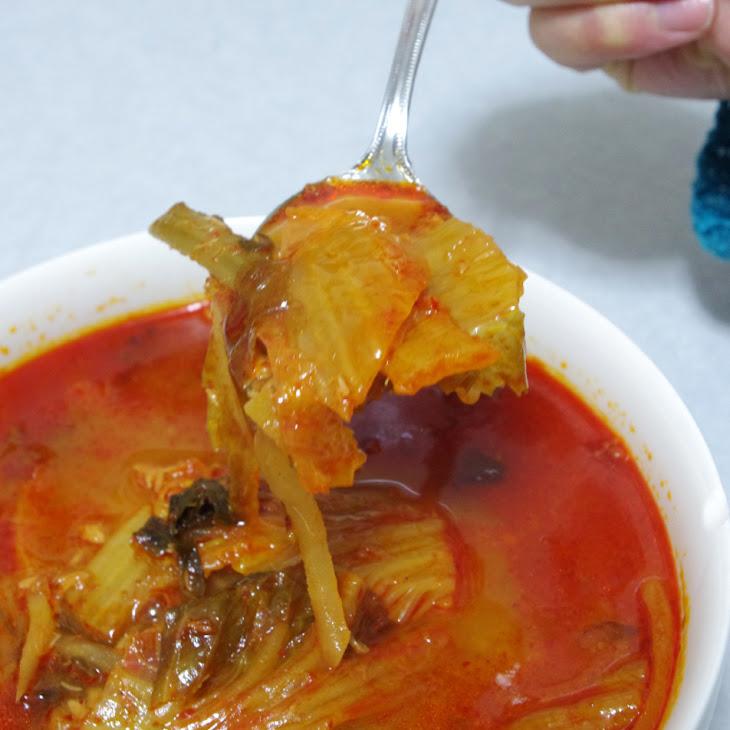 11 Korean kimchi soup (김치찌개)