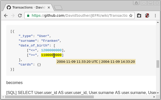 Unix timestamp to readable date/time