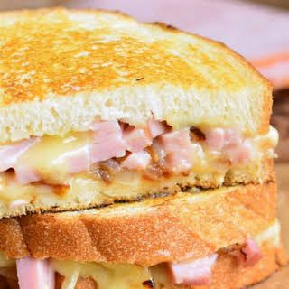 Ham and Brie Grilled Cheese Sandwich.