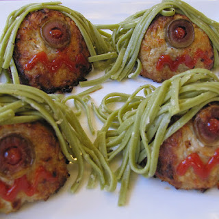 Cyclops Meatballs With Scary Green Hair