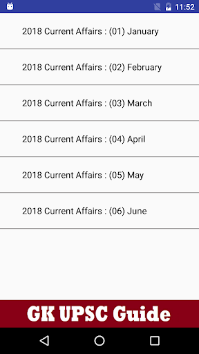 GK UPSC India 2018 - Daily Current Affairs IAS 1.0.1 screenshots 3