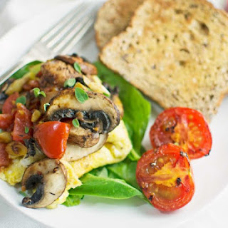 Easy to Make Omelette with Lots of Veggies
