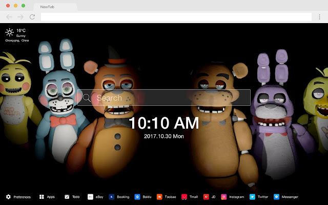 Five Nights at Freddy's New Tab HD Themes