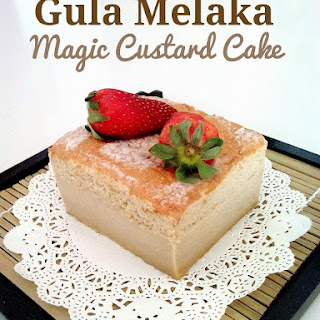 Gula Melaka Magic Custard Cake.