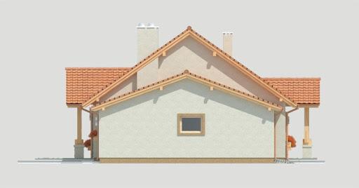 Anita wersja A z pojedynczym garażem - Elewacja lewa