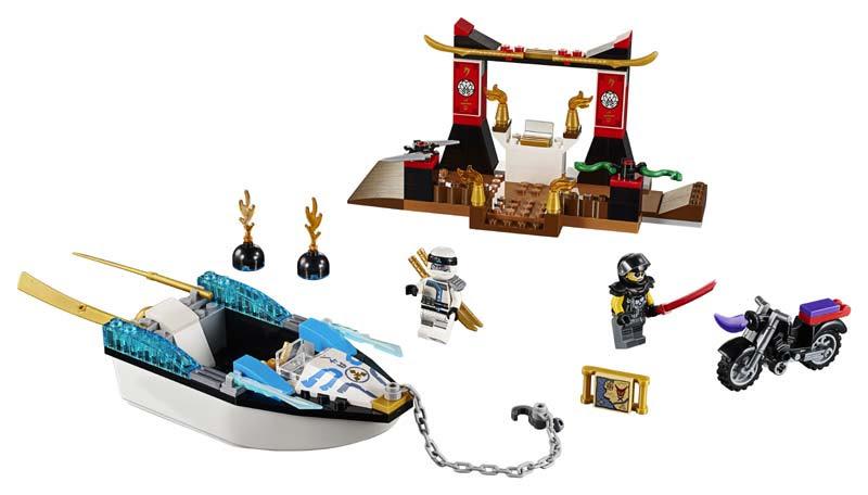 Contenido de Lego® 10755 Persecución en la Lancha Ninja de Zane