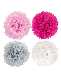 Pompoms light pink