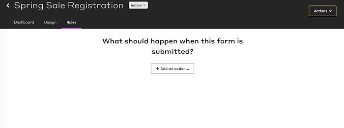 Form rules tab