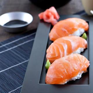 Salmon Nigiri Sushi.