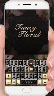 Fancy Floral Keyboard Theme - náhled