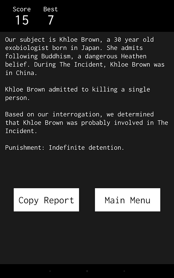 Indefinite: Interrogation Game- screenshot