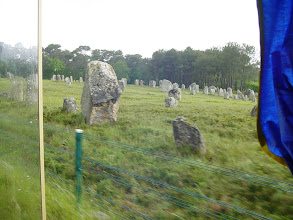 Photo: There are three great alignments of standing stones in the area: Le Menec (1169 stones in 11 rows), Kerlescan (555 menhirs in 13 rows) and Kermario (1029 stones in 10 rows).