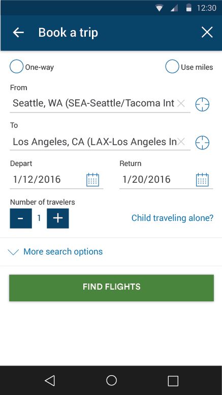 Alaska Airlines - Travel- screenshot