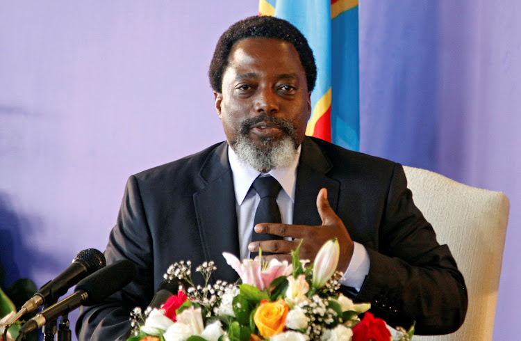 DR Congo's president Joseph Kabila. File photo