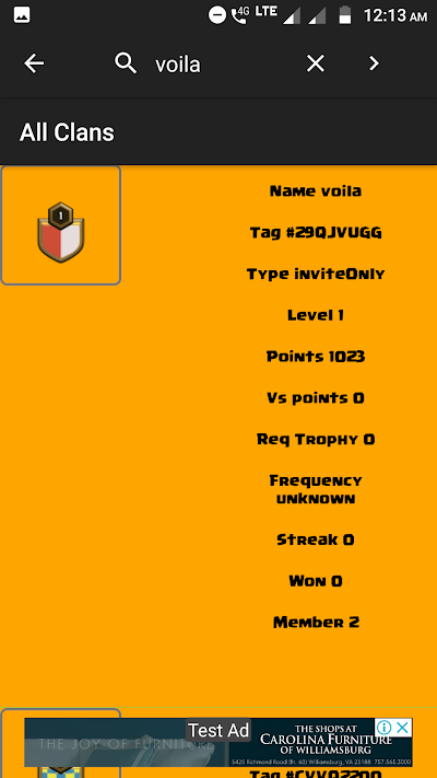 clash of clans stats
