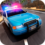 Street Police Patrol Car
