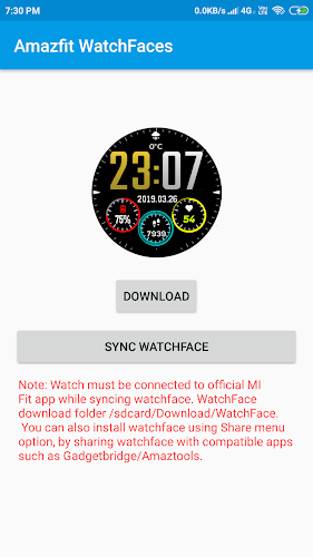 Download Watchface for Amazfit (Cor, Verge, Stratos, Pace