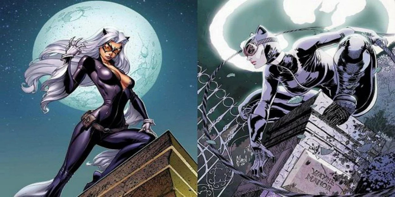 Catwoman and Black Cat - similar DC and Marvel Characters