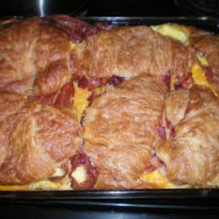 Croissant Breakfast Sandwich Casserole.