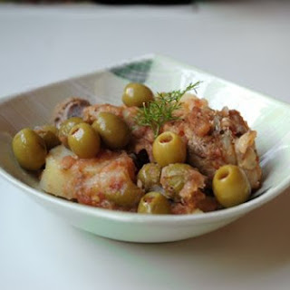 Braised Chicken with Spanish Olives.