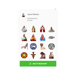 Jesus stickers para whatsapp 😍 Screenshot