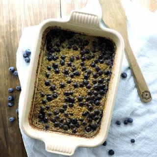 Baked Blueberry Steel Cut Oats.