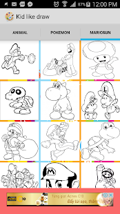 Draw cartoon/super mario