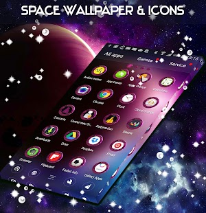 Space Wallpaper & Icons - náhled