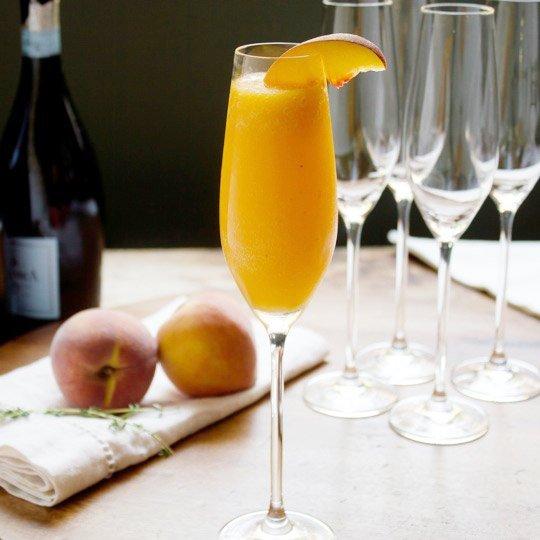 Peach Thyme Bellini Recipe