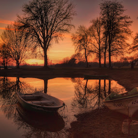On the lake by Dunja Milosic Odobasic - Landscapes Waterscapes (  )