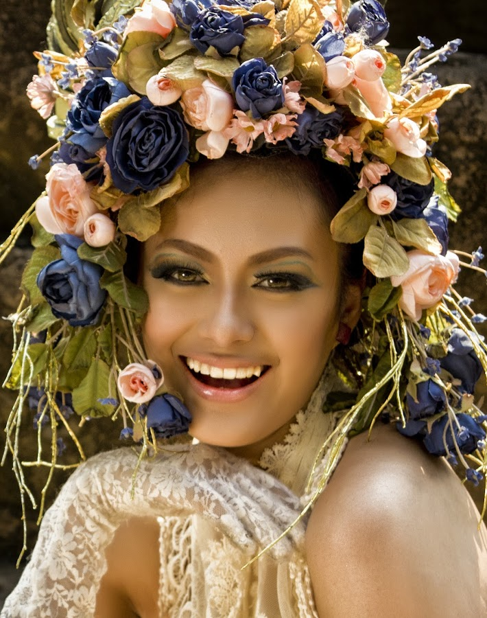 The Smile  by Ron Alayon - People Portraits of Women