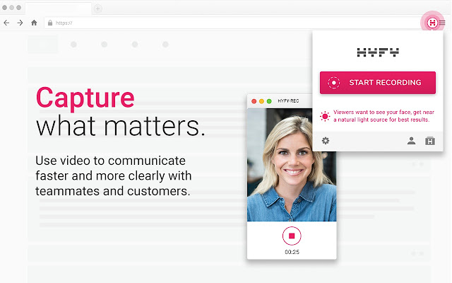 HYFY Recorder: Video, Screen, Face, Voice - Chrome Web Store