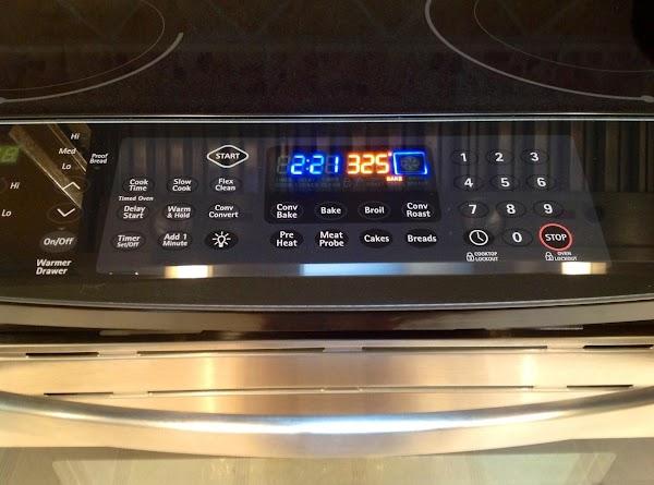 Preheat oven to 325 degrees.