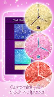 Live Clock Glitter Wallpaper - náhled