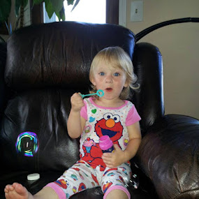 Blowing bubbles! by Denise Johnson - Babies & Children Toddlers