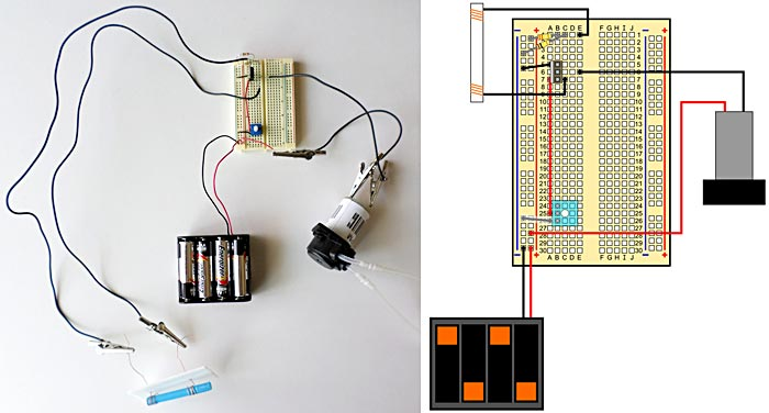 Complete insulin pump model circuit.