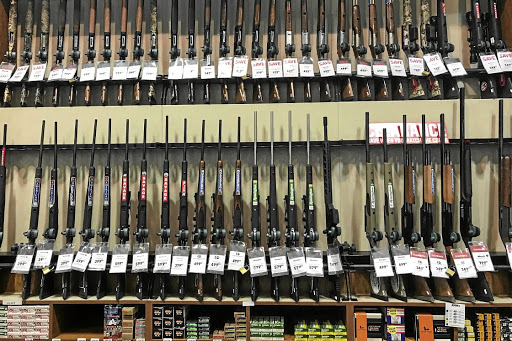 Guns for sale are seen inside a Dick's Sporting Goods store in Stroudsburg, Pennsylvania. Picture: REUTERS