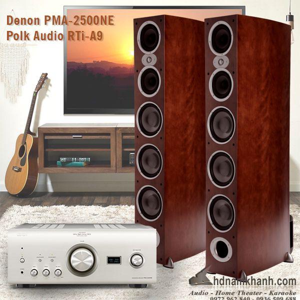 Bộ Hi-fi Amply Denon 2500NE + Loa Polk RTi A9 âm thanh chất lượng - 288336