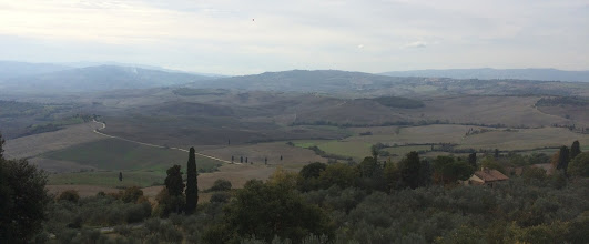 Photo: The view from Pienza
