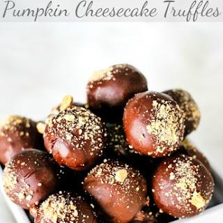 Chocolate Covered Pumpkin Cheesecake Truffles