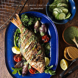Grilled Whole Red Snapper + Mint Lime Pesto