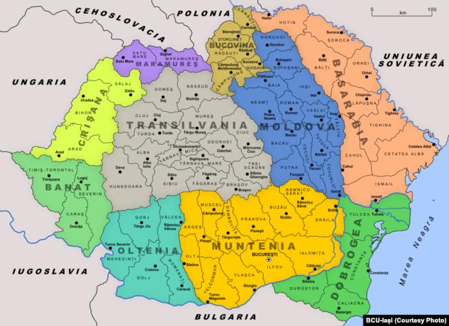 """Карта межвоенной """"Великой Румынии"""""""