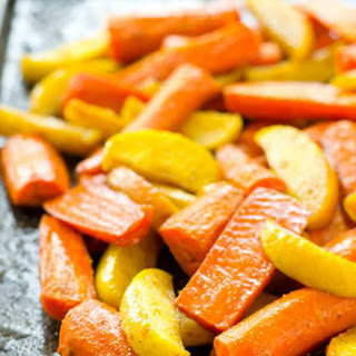 Moroccan Maple-Roasted Carrots and Apples.
