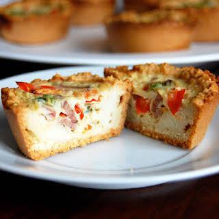Paleo Mini Quiches with Almond Flour Crust.