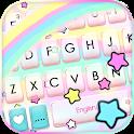 Cute Rainbow Stars Keyboard Background icon