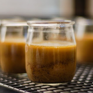 Salted Brown Butter Caramel Pots de Creme